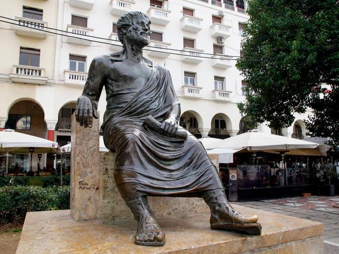 Die Statue von Aristoteles